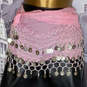Belly dancing wrap with coins
